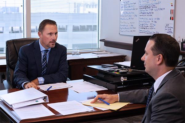 Michael Milne meeting with Peter Kapsales
